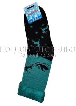 Мъжки дебели зимни пухкави чорапи Elitex 9368 с коледни мотиви
