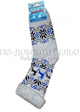 Мъжки дебели зимни пухкави чорапи Elitex 9372 с коледни мотиви
