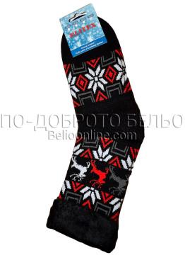 Мъжки дебели зимни пухкави чорапи Elitex 9373 с коледни мотиви