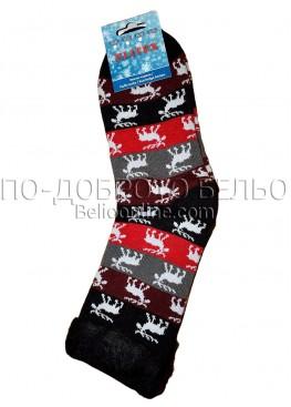Мъжки дебели зимни пухкави чорапи Elitex 9375 с коледни мотиви
