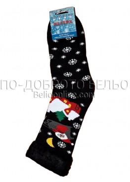 Мъжки дебели зимни пухкави чорапи Elitex 9376 с коледни мотиви