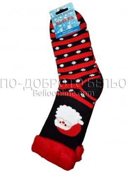 Мъжки дебели зимни пухкави чорапи Elitex 9377 с коледни мотиви