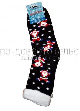 Мъжки дебели зимни пухкави чорапи Elitex 9379 с коледни мотиви