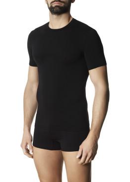 Мъжка безшевна тениска с къси ръкави от микрофибър Pompea Maglia Moving