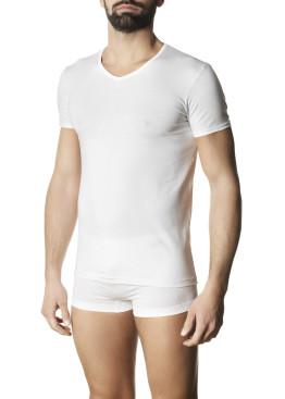Мъжка тениска с къси ръкави и V-образно деколте Pompea