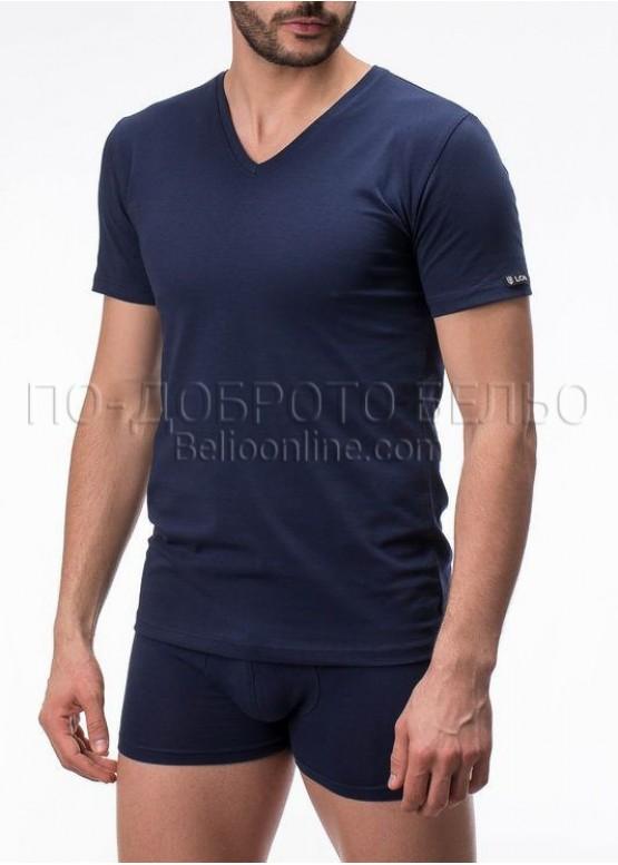 Мъжка тениска с остро деколте и къс ръкав LORD 292