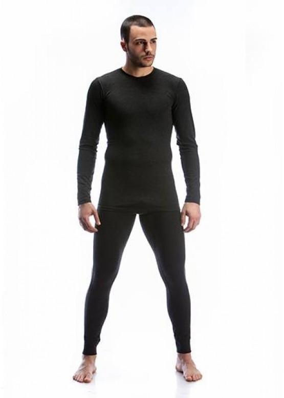 Мъжка вълнена тениска в черен цвят