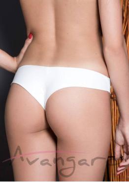 Дамска бразилиана от микрофибър без ластик  Avangard 8064 в бяло