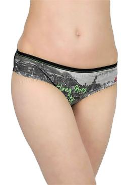 Дамски памучни бикини Jadea 6749 в черен цвят