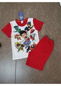 Детска лятна пижама с къс ръкав и късо долнище Иватекс 205 с Пес Патрул