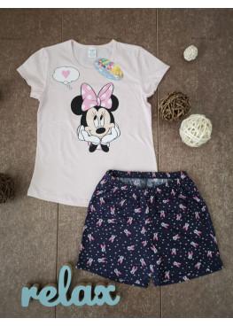 Детска лятна пижама с къс ръкав Иватекс 198 с Мини Маус