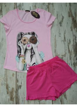 Детска лятна пижама с къс ръкав Иватекс 7734