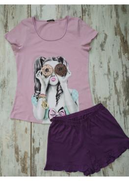 Детска лятна пижама с къс ръкав Иватекс 7736