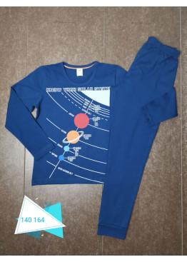 Детска памучна пижама Иватекс 230 в синьо