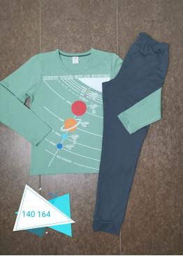 Детска памучна пижама Иватекс 230 в зелено