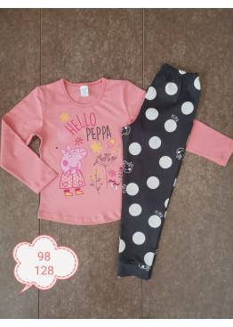 Детска памучна пижама Иватекс 232 в праскова с Пепа Пиг