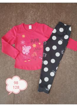Детска памучна пижама Иватекс 232 в розово с Пепа Пиг