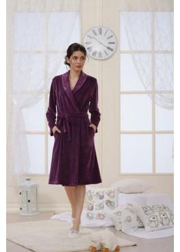 Дамски халат Affect в бордо