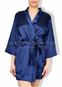 Дамски луксозен къс сатенен халат в кутия 6080