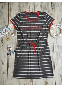 Дамска лятна рокля с къс ръкав Иватекс 7823