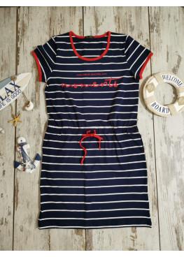 Дамска лятна рокля с къс ръкав Иватекс 7824