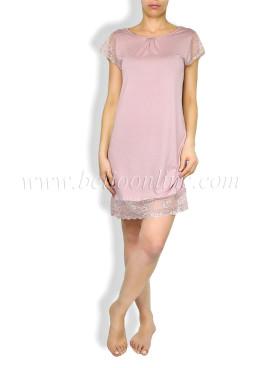 Дамска нощница с къс ръкав от модал 6054