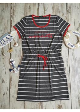 Дамска рокля Иватекс с моряшки мотиви 7911