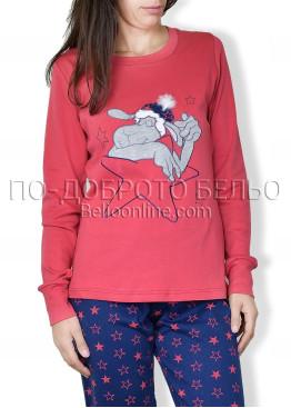 Червена пижама с дълъг ръкав Affect  6695