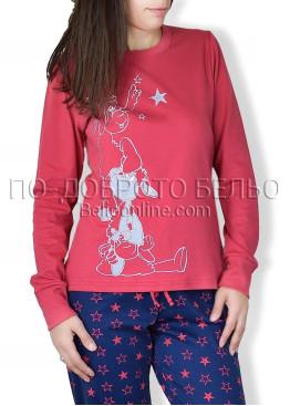 Червена пижама с дълъг ръкав Affect  6696