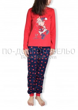 Дамска коледна пижама  с дълъг ръкав Affect 4837