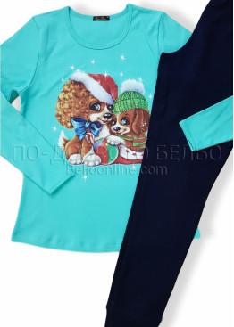 Дамска коледна пижама Иватекс с куенца 7562