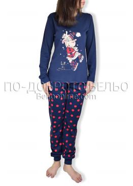Дамска коледна пижама  с дълъг ръкав Affect 6887