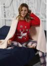 Дамска коледна пижама с еленчета 7553