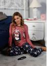 Дамска коледна пижама с пингвинче 7554