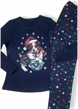 Дамска коледна зимна пижама Иватекс 7497