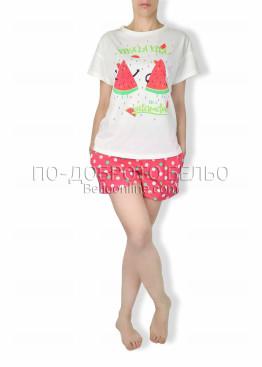 Дамска лятна пижама диня 6262