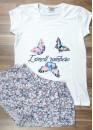 Дамска лятна пижама с къс ръкав Десислава 7919