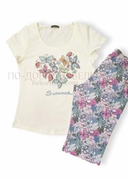 Дамска лятна пижама с къс ръкав Иватекс 7672