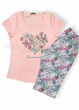 Дамска лятна пижама с къс ръкав Иватекс 7673