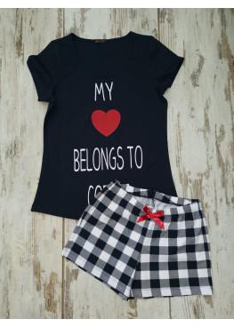 Дамска лятна пижама с къс ръкав Иватекс 7738