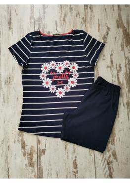 Дамска лятна пижама с къс ръкав Иватекс 7761