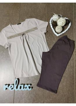 Дамска лятна пижама с къс ръкав Иватекс 7920