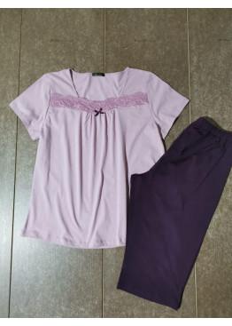 Дамска лятна пижама с къс ръкав Иватекс 7921