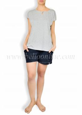 Дамска лятна пижама с къси панталонки 6047
