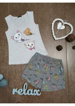 Дамска лятна пижама с потник Иватекс 7960