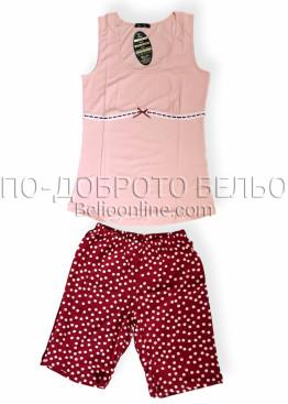 Дамска лятна пижама с потник с широки презрамки Иватекс 8022