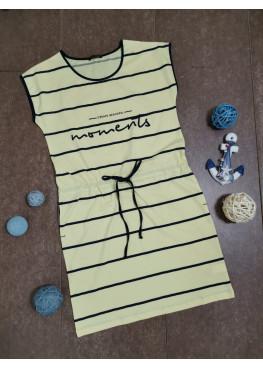 Дамска памучна лятна рокля без ръкави Иватекс 7976