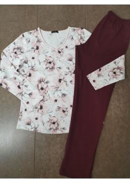 Дамска памучна пижама Иватекс 3534