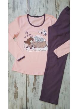 Дамска памучна пижама Иватекс 7278