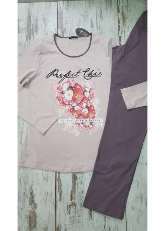 Дамска памучна пижама Иватекс 7281